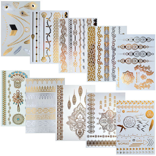 "Flash Tattoos ""Set of 10"""