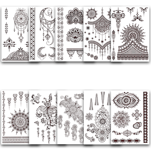 "Henna Tattoos ""Set of 10"""